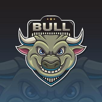 Logo-maskottchen-stier-vektor-illustration
