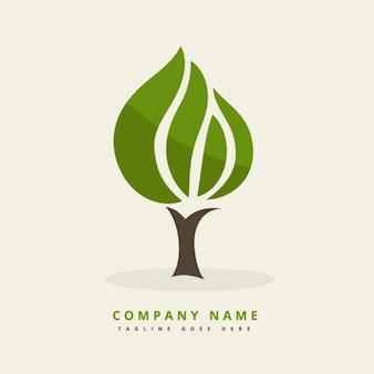 Logo mit abstrakten baum
