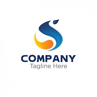 Logo mit abstrakten s