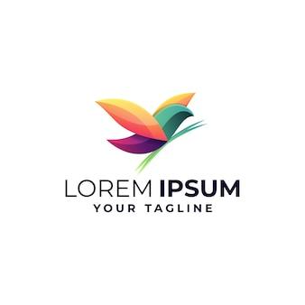 Logo mit blendem vogel
