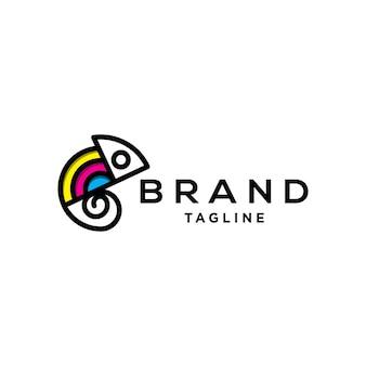 Logo mit chamäleon-print