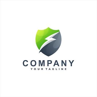 Logo mit farbverlauf des schildes