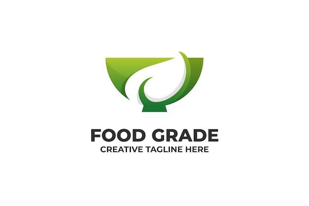 Logo mit farbverlauf für lebensmittelqualitätsgarantie
