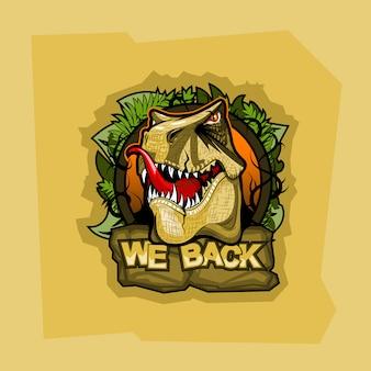 Logo mit tyrannosaurus und inschrift