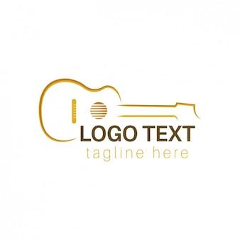 Logo mit umrissen gitarre
