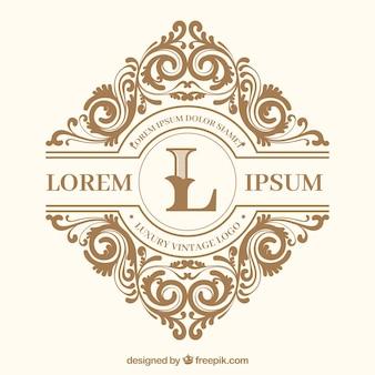 Logo mit Vintage- und Luxus-Stil