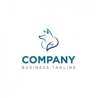 Logo mit wolfsform