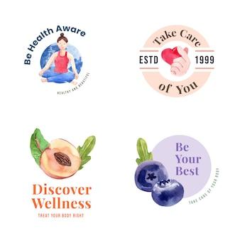 Logo oder ikone mit konzeptentwurf des welttages der psychischen gesundheit