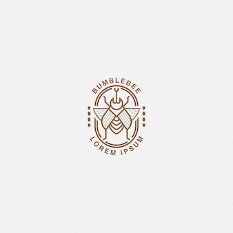 Logo oder logo strichzeichnungen von hummeln