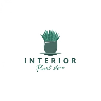 Logo pflanzen in töpfen für die raumdekoration