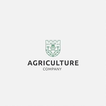 Logo premium mit landwirtschaft