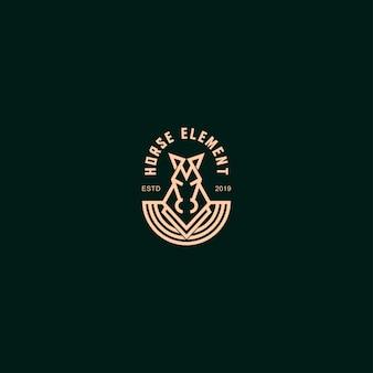 Logo premium mit pferd