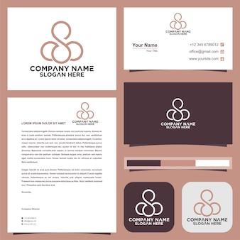 Logo s und visitenkarte