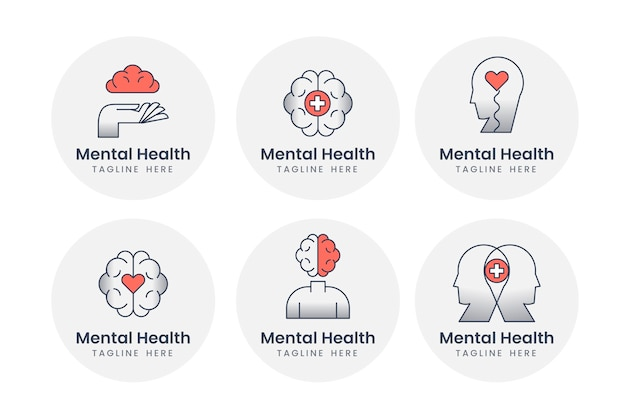 Logo-sammlung für psychische gesundheit