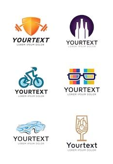 Logo-sammlungen für verschiedene arten von unternehmen oder organisationen
