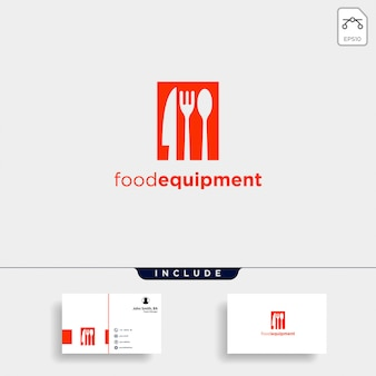 Logo-schablonen-ikonenzusammenfassung der anfangs-b-lebensmittelausrüstung einfache