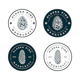 Logo-schablonendesign des naturprojekts
