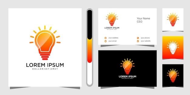 Logo-schablonendesign und visitenkarte