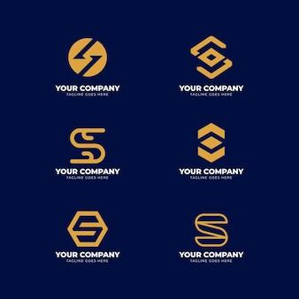 Logo-schablonenpaket des flachen designs s