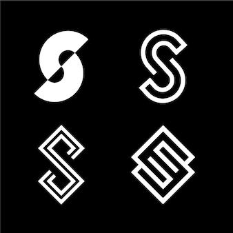 Logo-schablonensammlung des flachen designs s