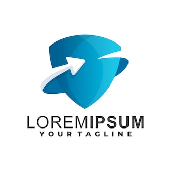 Logo schild farbverlauf vorlage