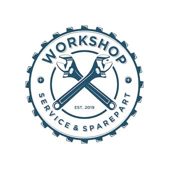 Logo-schlüssel für werkstätten oder industrie