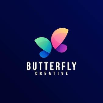 Logo schmetterling farbverlauf bunter stil