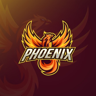 Logo-stil mit phönix