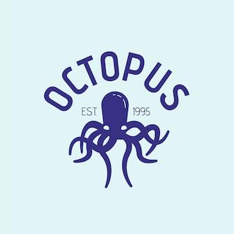 Logo-stil mit tintenfisch