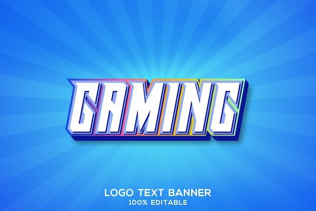 Logo text banner gaming 3d