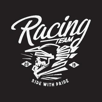 Logo thema für rennteam