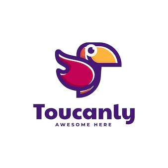 Logo tukan einfacher maskottchen-stil