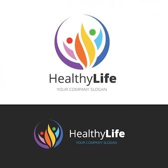 Logo über einen gesunden lebensstil