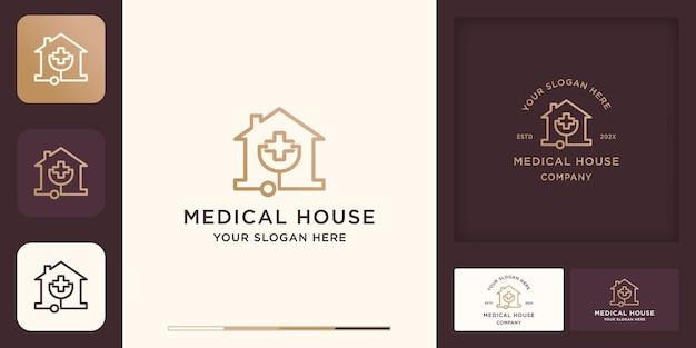 Logo und visitenkarte des ärztehauses