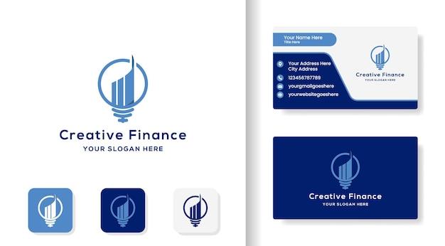 Logo und visitenkartendesign für die kreativität der geschäftskreativität