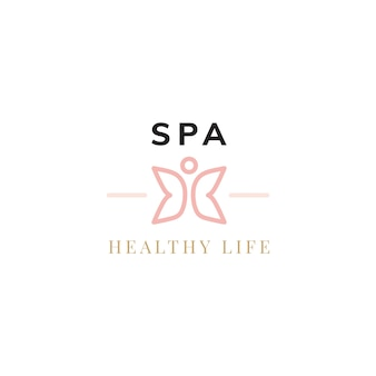 Logo-vektor des gesunden lebens des badekurortes