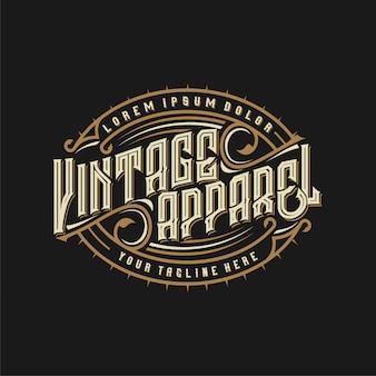 Logo vintage für bekleidungsmarken