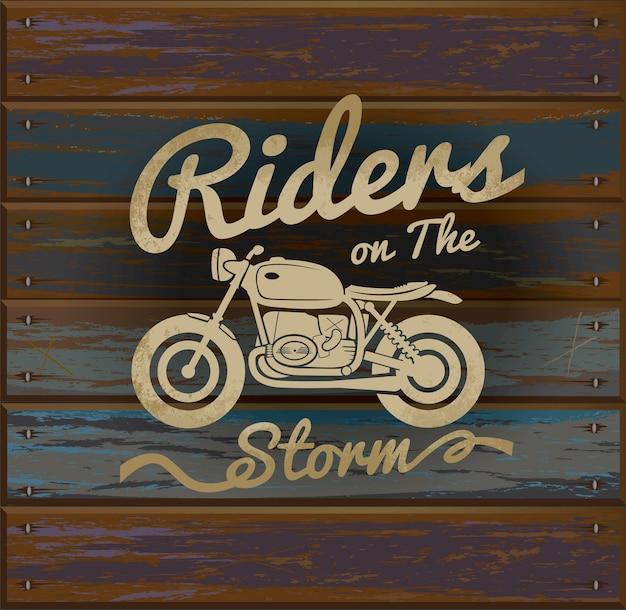 Logo vintage motorrad