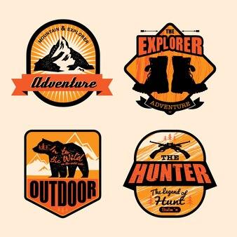 Logo vintage outdoor-thema