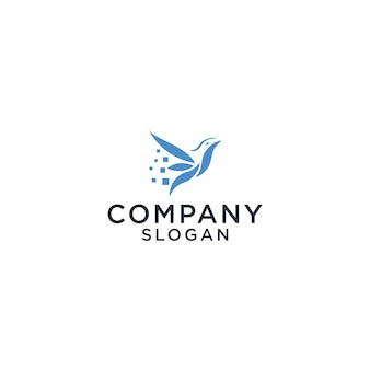 Logo-vogelgrafik-design für t-shirts, taschen und andere verwendungen