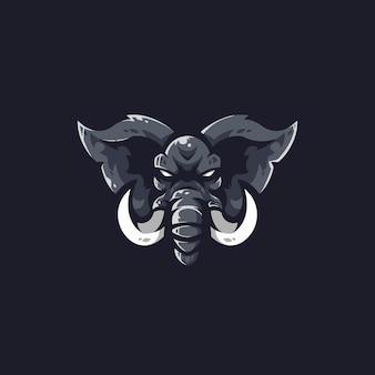 Logo-vorlage des elefanten-e-sportteams