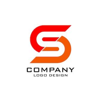 Logo-vorlage für buchstabe s.