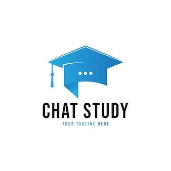 Logo-vorlage für chat-studie