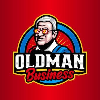 Logo-vorlage für den alten mann