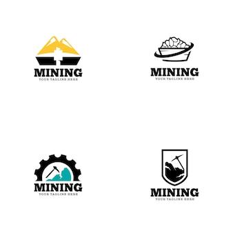 Logo-vorlage für den bergbau