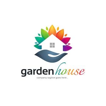 Logo-vorlage für den hausgarten