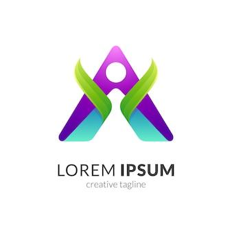 Logo-vorlage für die menschliche gesundheit