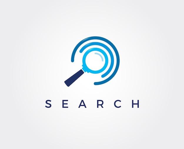 Logo-vorlage für die minimale suche