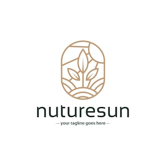 Logo-vorlage für natürliches wachstum