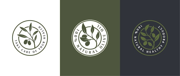 Logo-vorlage für olivenöletikett 3